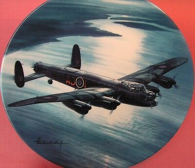 Royal Worcester Mission Accomplished Plate Wilfred Hardy Dambusters