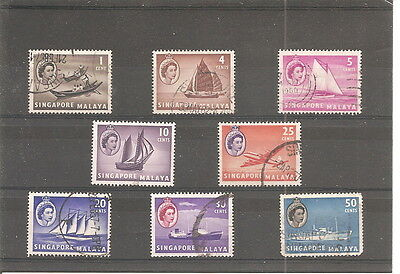 Collection  Of    8 Used   Stamps From  Singapore