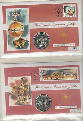 ISLE OF MAN 2 x 2003 COIN COVERS
