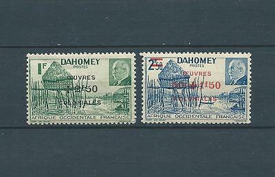 DAHOMEY - 1944 YT 153 à 154 - TIMBRES NEUFS** LUXE