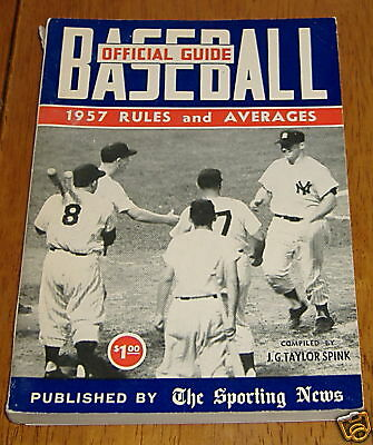 the sporting news baseball guide 1957 mickey mantle
