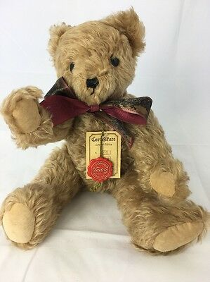 Hermann Teddy Original Ltd Edition 40cm Gold Mohair Bear  304/2000