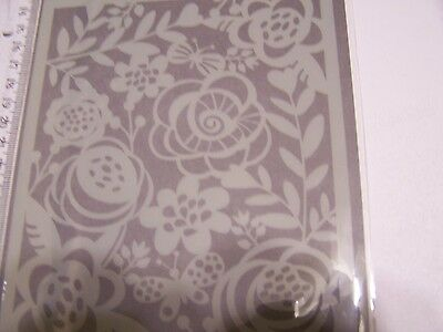 Plastic Stencil Bold Floral Background Mixed Media Art Hero Arts