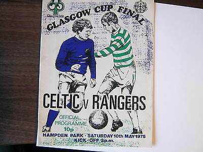 Rangers v Celtic 1975 Glasgow Cup Final programme (C)
