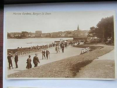 Bangor Co Down  Real Photo Marine Gardens View To Gas Works Etc