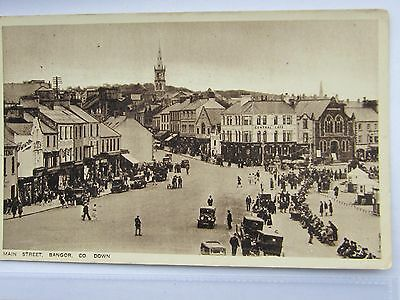 Bottom Of Main Street Bangor Co Down Crowds Old Vehicles 1920