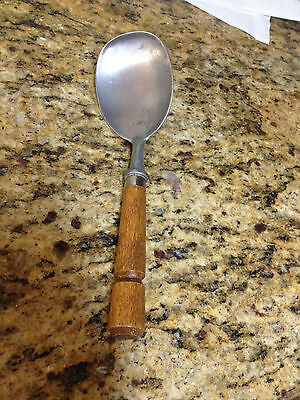 Bonny? USA- Spoon, Scooper, dipper with wood handle, 9""