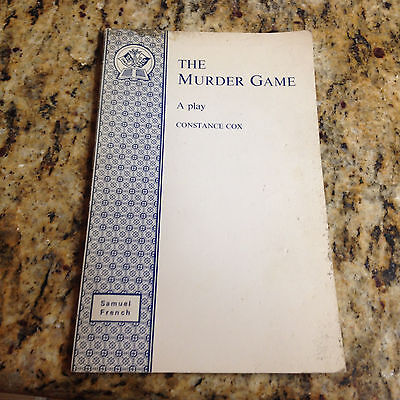 The Murder Game; A Play Boy Constance Cox , Samuel French 1976