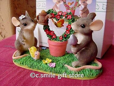 Charming Tails *KEEPING OUR LOVE ALIVE* #89/710 fig Fitz & Floyd MIB Ret RARE!!