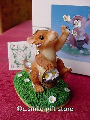 Charming Tails *WEDDING DAY BLOSSOMS* #82/105 figurine Fitz & Floyd MIB Ret RARE