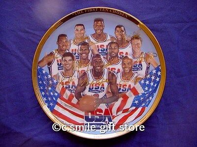 Sports Impressions *FIRST TEN CHOSEN* Signature LE Basketball Plate '92 Ret MIB