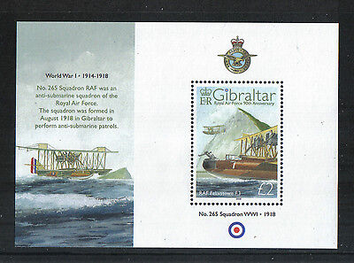 Gibraltar 2008 Royal Air Force 90th Anniv ss--Attractive Topical (1141) MNH