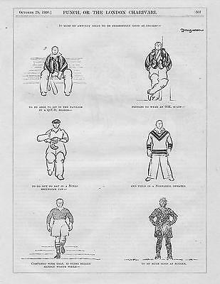 Collection Vintage  Punch RUGBY Cartoons