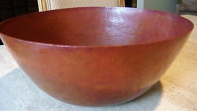 Ramon Ramirez Large Hand Hammered Copper Bowl Santa Clara del Cobre 12""