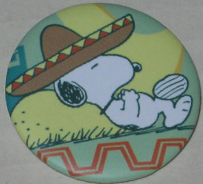 "Snoopy Mexico ""Siesta"" Pin 1 1/8"""