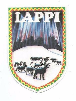 Lappi Lappland Province Sweden Finland Norway Travel Souvenir Patch Reindeer