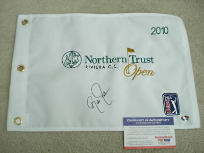 RARE *ONLY 1 Ebay RICKIE FOWLER SIGNED FLAG ROOKIEGRAPH PSA/DNA ROOKIE SIGNATURE