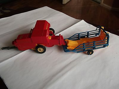 Britians Farm New Holland Square Baler With Sledge And Bales