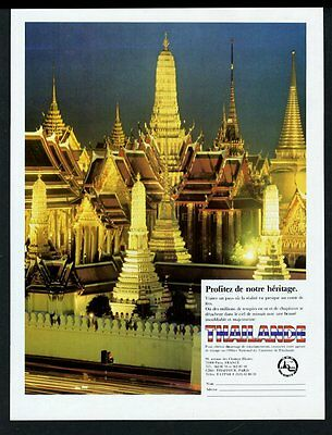 1983 Thailand gold temple photo vintage travel print ad