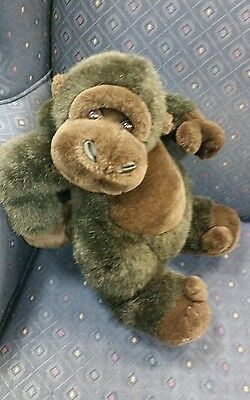 FAO SCHWARTZ Fifth Avenue GORILLA MONKEY STUFFED ANIMAL PLUSH chimp dark brown