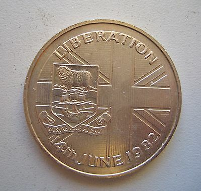 Falkland Islands, 1982, Liberation Crown Uncirculated condition, 38. mm Diameter