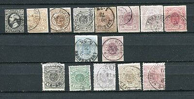 Luxembourg, lot timbres classiques 1852/1865 , cote €1050