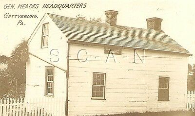 Org Vintage 1910s-20s Sepia Real Photo- Gettysburg PA- Gen Meade's Headquarters