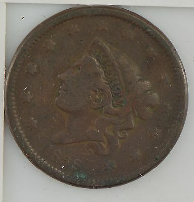"""1838 Matron Head Large Cent, """"Young Head"""" *Z05"""