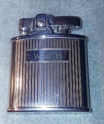 """'60's RONSON """"Triumph"""" lighter, std. action, very clean, works well, initials"""