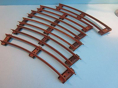 Hornby Vintage  O Gauge Clockwork Train Track. 6 x Curves with Level Sleepers