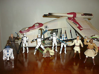Attack of the Clones Star Wars Republic Gunship with Extras - 100% Complete