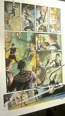 ORIGINAL COMIC ART Outlaw Prince Painted by Thomas YEATES Signed,+Michael KALUTA