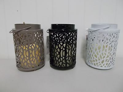 Ger42994 Everlasting Glow Lantern With Resin Led Candle Patio Lighting 5 Hr Time