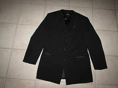 Claiborne Men's 3 Button Tuxedo Jacket 40 Regular NWT Black 100% Wool 40R Coat