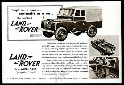 1955 Land-Rover SUV 3 photo vintage UK print ad