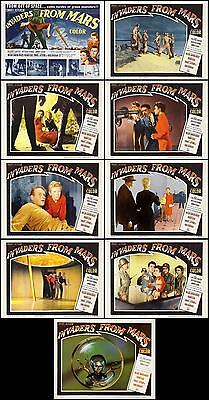 INVADERS FROM MARS COMPLETE SET OF 9 SCI-FI classic 8x10 LC PRINTS 1953