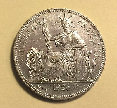French Indo-China - Piastre de Commerce - 1926A - KM-5a.1 - Large Silver Coin