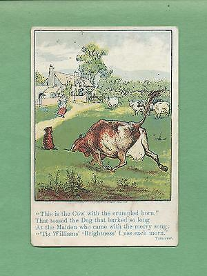 THE HOUSE THAT JACK BUILT Shown On D. W. WILLIAMS SOAP Victorian Trade Card