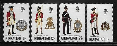 Gibraltar 330-33 Military Uniforms Mint NH