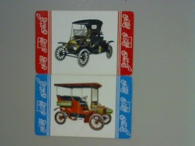 (2) Swap/Playing Cards - Pair Vintage Cars (Horizaontals)