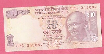 India, Indian - UNC Banknote - 10 Rupees 2013 - Gandhi, Animals