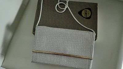 Vintage Glomesh white evening snake chain bag with box