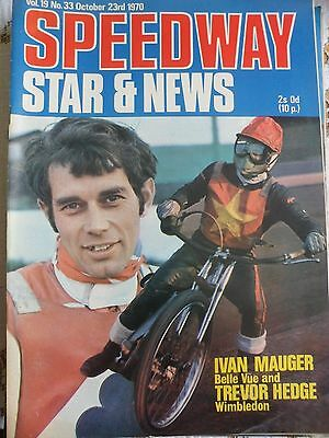 Speedway Star and News 23th October 1970