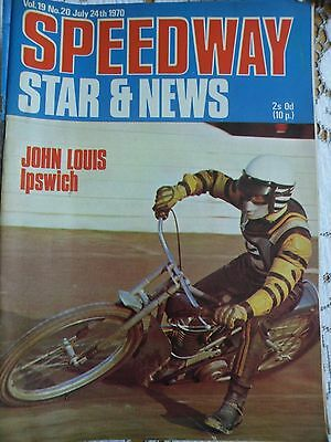 Speedway Star and News 24th July 1970