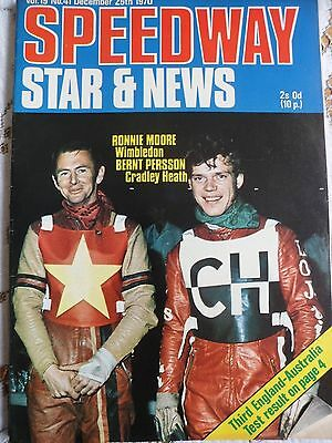 Speedway Star and News 25th December 1970