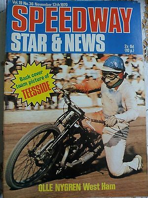Speedway Star and News 13th November 1970