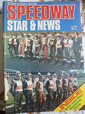 Speedway Star and News 16th October 1970