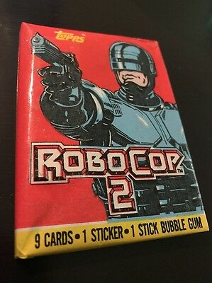 Topps Robocop 2 Trading Cards Sticker Bubble Gum 1990