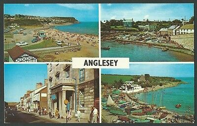 Anglesey Multiview c1970s Printed Postcard