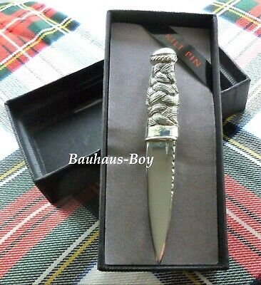 Kilt Pin Solid Polished Pewter Sgian Dubh Design Made In Scotland Kiltwear Kilts
